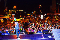 Cal Shapiro of Timeflies entertains the Freak Fest crowd Saturday from the Mountain Dew / Madison State Capitol Stage during Freakfest 2015 on State Street in Madison, Wisconsin