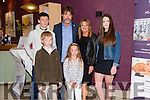 """The Duggan family Roy,Finán,Tim,Patricia, Mia and Brogan Duggan at at the """"Fashion Fusion"""" in aid of Duggan Family House fire Appeal in the Fels Point Hotel on Saturday"""