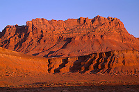 AZNE 11 -  Sunset light reddens Echo Cliffs, which rise just east of Hwy 89 for many miles, Coconino County, northeast Arizona, USA --- (4x5 inch original - cropped, File size: 6335x4200, 76.1mb uncompressed)