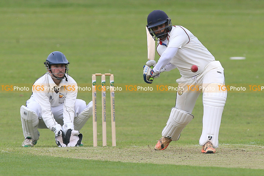 E Sheikh in batting action for Ilford during Harold Wood CC vs Ilford CC, Shepherd Neame Essex League Cricket at Harold Wood Park on 29th April 2017