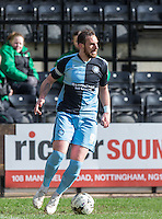 Paul Hayes of Wycombe Wanderers on the ball during the Sky Bet League 2 match between Notts County and Wycombe Wanderers at Meadow Lane, Nottingham, England on 28 March 2016. Photo by Andy Rowland.