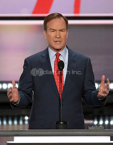 Bill Schuette, Attorney General of Michigan, makes remarks at the 2016 Republican National Convention held at the Quicken Loans Arena in Cleveland, Ohio on Monday, July 18, 2016.<br /> Credit: Ron Sachs / CNP/MediaPunch<br /> (RESTRICTION: NO New York or New Jersey Newspapers or newspapers within a 75 mile radius of New York City)