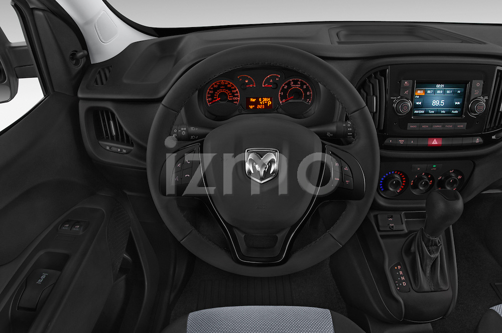 Car pictures of steering wheel view of a 2015 Ram Promaster City Trademans 4 Door Cargo Van