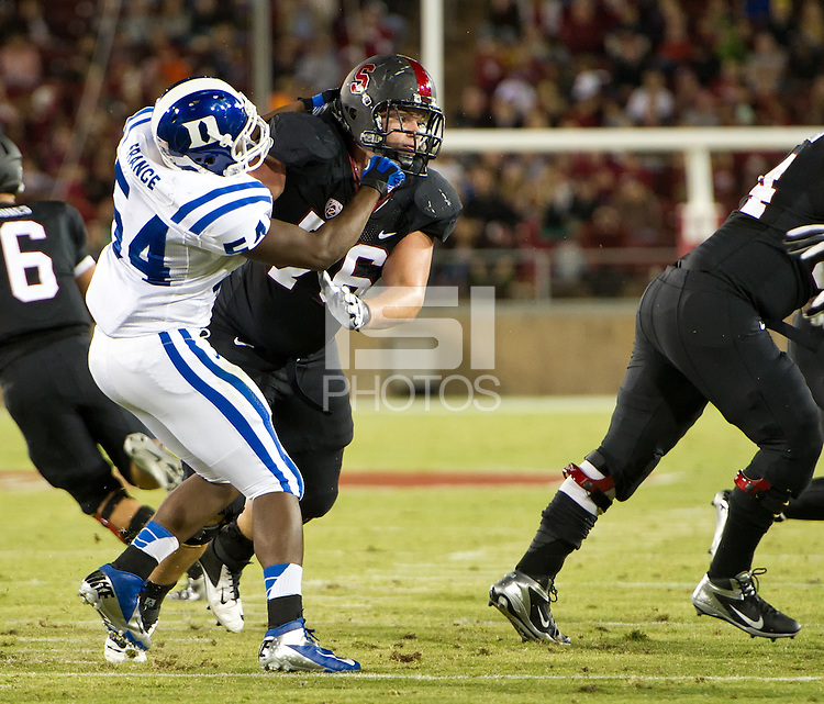 STANFORD, CA - September 8, 2012: Stanford Cardinal vs the Duke Blue Devils at Stanford Stadium in Sanford, CA. Final score Stanford 50, Duke 13.