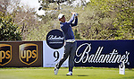 JEJU, SOUTH KOREA - APRIL 24:  Anthony Kim of USA tees off on the 9th hole during the Round Two of the Ballantine's Championship at Pinx Golf Club on April 24, 2010 in Jeju island, South Korea. Photo by Victor Fraile / The Power of Sport Images
