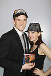 """Claybourne Elder & Melissa van der Schyff - Bonnie & Clyde's """"Buck & Blanche"""" with new CD at Promo shoot for the annual Broadway Extravaganza in honor of Jane Elissa's Candidacy for Leukemia & Lymphoma Society Woman of the Year and for Hats for Health on April 23, 2012 at the Marriott Marquis Hotel, New York City, New York. In the shoot are Days of Our Lives Louise Sorel """"Vivian"""", Broadway Bonnie and Clyde's Melissa VanDer Schyff and Clay Elder, Dale Badway (Creator Fame-Wall) and host for the upcoming event, Corey Brunish (producer of Bonnie & Clyde) and Billy Freda, singer songwriter Missy Modell (Photo by Sue Coflin/Max Photos)"""