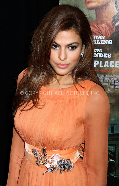 WWW.ACEPIXS.COM....March 28 2013, New York City....Actress Eva Mendes arriving at 'The Place Beyond The Pines' New York Premiere at Landmark Sunshine Cinema on March 28, 2013 in New York City....By Line: Nancy Rivera/ACE Pictures......ACE Pictures, Inc...tel: 646 769 0430..Email: info@acepixs.com..www.acepixs.com