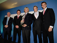Lords, London, The GBR M4- who collectively won the British Olympic Association's 'Olympic Athlete of the Year' trophy in honour of the BOA's centenary, At the GB Rowing Team Dinner,  03.02.2007. [Photo, Peter Spurrier/Intersport-images] lef to right Craig REEDIE, Steve WILLIAMS, Andy HODGE, Alex PATRIDGE and Peter REED..  [Mandatory Credit, Peter Spurier/ Intersport Images].