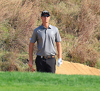 Nicolas Colsaerts (BEL) in a bunker at the 8th green during Sunday's Final Round of the 2014 BMW Masters held at Lake Malaren, Shanghai, China. 2nd November 2014.<br /> Picture: Eoin Clarke www.golffile.ie