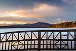 Sunset at Chocorua Lake in Tamworth, New Hampshire, USA