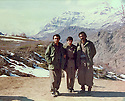 Iraq 1981 .In the center, Hatige Yachar, right , Nou Shirwan near Zahle in winter .Irak 1981 .Au centre Hatige Yachar , a droite Nou Shirwan, en hiver pres de Zahle