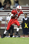 Lawndale, CA 10/01/10 - Da' Ron Frost (Lawndale #1) in action during the Peninsula-Lawndale Varsity football game.