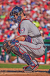 8 June 2013: Minnesota Twins catcher Joe Mauer in action against the Washington Nationals at Nationals Park in Washington, DC. The Twins edged out the Nationals 4-3 in 11 innings. Mandatory Credit: Ed Wolfstein Photo *** RAW (NEF) Image File Available ***