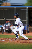 Seattle Mariners Austin Cousino (13) during an instructional league intrasquad game on October 6, 2015 at the Peoria Sports Complex in Peoria, Arizona.  (Mike Janes/Four Seam Images)