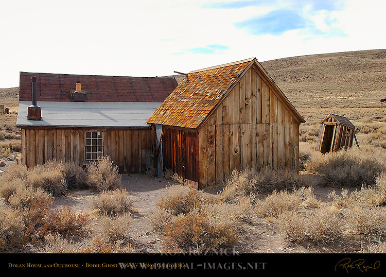 Dolan House and Outhouse, Bodie Ghost Town, Mono, California