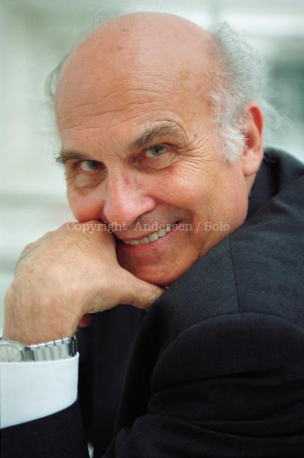 Ryszard Kapuscinsky, polish author on promotion.