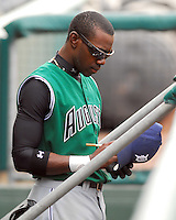 6 May 2007: Marcus Sanders from a game between the Augusta GreenJackets, Class A South Atlantic League affiliate of the San Francisco Giants, and the Greenville Drive at West End Field in Greenville, S.C. Photo by:  Tom Priddy/Four Seam Images