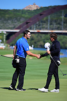 Jon Rahm (ESP) shakes hands with Charles Howell III (USA) after winning their match on 14 during round 4 of the World Golf Championships, Dell Technologies Match Play, Austin Country Club, Austin, Texas, USA. 3/25/2017.<br /> Picture: Golffile | Ken Murray<br /> <br /> <br /> All photo usage must carry mandatory copyright credit (&copy; Golffile | Ken Murray)