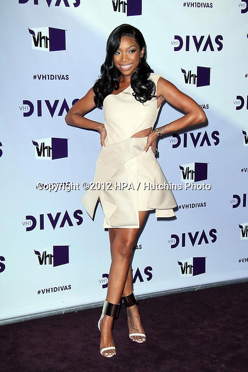 LOS ANGELES - DEC 16:  Brandy Norwood arriving at the VH1 Divas Concert 2012 at Shrine Auditorium on December 16, 2012 in Los Angeles, CA