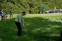 Martin Erlandsson chips in on the 9th hole during the third round of the Irish Open on 19th of May 2007 at the Adare Manor Hotel & Golf Resort, Co. Limerick, Ireland. (Photo by Eoin Clarke/NEWSFILE)..