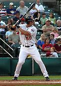 August 6, 2003:  Michael Cuddyer of the Red Wings, Class-AAA affiliate of the Minnesota Twins, during a International League game at Frontier Field in Rochester, NY.  Photo by:  Mike Janes/Four Seam Images