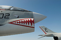 AVAILABLE FROM JEFF AS A FINE ART PRINT.<br /> <br /> AVAILABLE FROM JEFF FOR EDITORIAL LICENSING.<br /> <br /> Vought F-8 Crusader, Circa 1955..Intrepid Sea, Air and Space Museum, New York City, New York State, USA