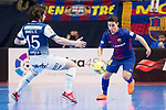 Barcelona Lassa Roger Serrano and R. Renov. Zaragoza Fernando Modrego during Futsal Spanish Cup 2018 at Wizink Center in Madrid , Spain. March 16, 2018. (ALTERPHOTOS/Borja B.Hojas)