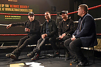 Founder Benjamin Shalom (L), Paulie Malignaggi, Anthony Crolla and Ricky Hatton during the Ultimate Boxxer Launch at the ME London Hotel on 5th February 2018