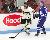 Ben Iwanowski (WIT - 20), Tyler Vankleef (Curry - 15) - The Wentworth Institute of Technology Leopards defeated the visiting Curry College Colonels 1-0 on Saturday, November 23, 2013, at Walter Brown Arena in Boston, Massachusetts.
