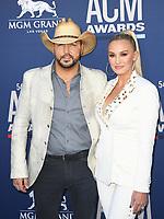 LAS VEGAS, NV - APRIL 7: Jason Aldean and Brittany Kerri attend the 54th Annual ACM Awards at the Grand Garden Arena on April 7, 2019 in Las Vegas, Nevada. <br /> CAP/MPIIS<br /> &copy;MPIIS/Capital Pictures
