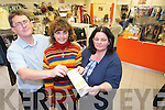 HELP WANTED: Sean Scally (Enable Ireland Fundraising Manager) with volunteer Noelle Long and Mildred Chapham (Assistant Manager Enable Ireland Shop) are urgently seeking volunteers for the shop in the Plaza, Tralee.
