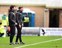Lincoln City manager Danny Cowley and Nicky Cowley in their technical area<br /> <br /> Photographer Andrew Vaughan/CameraSport<br /> <br /> The EFL Sky Bet League Two - Lincoln City v Forest Green Rovers - Saturday 3rd November 2018 - Sincil Bank - Lincoln<br /> <br /> World Copyright © 2018 CameraSport. All rights reserved. 43 Linden Ave. Countesthorpe. Leicester. England. LE8 5PG - Tel: +44 (0) 116 277 4147 - admin@camerasport.com - www.camerasport.com