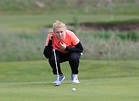 Caitlin Whitehead (ENG) on the 1st green during Round 3 of the Irish Women's Open Stroke Play Championship 2018 on Sunday 13th May 2018.<br />
