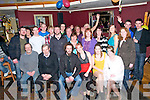 Going Away Party: Jonh Fenten & Fiona Hartnett, Listowel , centre  front, pictured at their going away party at their Star & Garter Bar, Listowel on Saturday night prior to their departure for Auustralia.