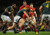 2nd December 2017, Principality Stadium, Cardiff, Wales; Autumn International Rugby Series, Wales versus South Africa; Josh Navidi of Wales is tackled by Steven Kitshoff of South Africa