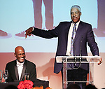 "Kenny Leon and Julius ""Dr. J"" Erving during the SDC Foundation presents The Mr. Abbott Award honoring Kenny Leon at ESPACE on March 27, 2017 in New York City."