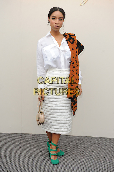 LONDON, ENGLAND - FEBRUARY 22: Lianne La Havas attends the Burberry Prorsum Womenswear A/W 2016 fashion show on West Albert Lawns in Kensington Gardens on February 22, 2016 in London, England.<br /> CAP/BEL<br /> &copy;Tom Belcher/Capital Pictures