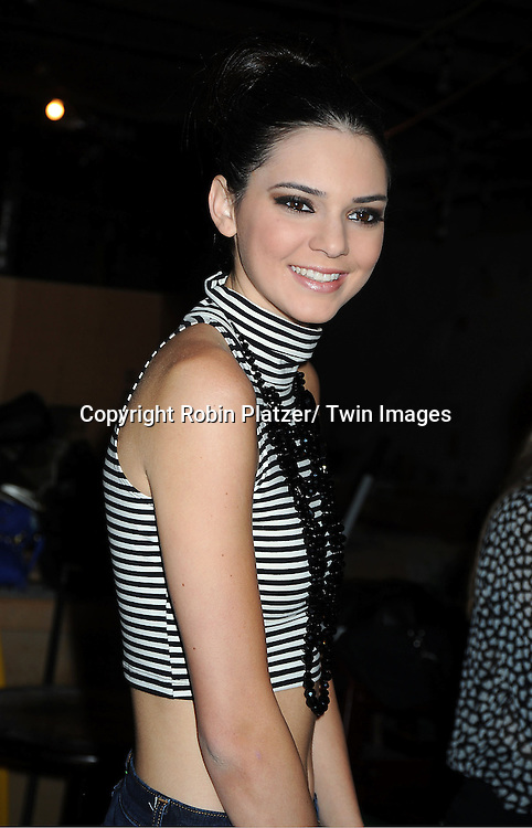 Kendall Jenner backstage at  the Sherri Hill Spring 2012 Fashion Show on September 7, 2012 at Trump Tower in New York City.