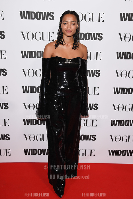 LONDON, UK. October 31, 2018: Magaajyia Silberfield at the &quot;Widows&quot; special screening in association with Vogue at the Tate Modern, London.<br /> Picture: Steve Vas/Featureflash