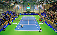 December 20, 2014, Rotterdam, Topsport Centrum, Lotto NK Tennis, overall view centercourt with mens double wheelchair final<br /> Photo: Tennisimages/Henk Koster