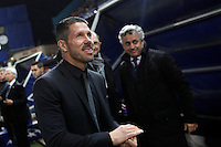 Atletico de Madrid´s coach Diego Simeone during 16th Champions League soccer match at Vicente Calderon stadium in Madrid, Spain. January 06, 2014. (ALTERPHOTOS/Victor Blanco)