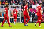 05.10.2019, Allianz Arena, Muenchen, GER, 1.FBL,  FC Bayern Muenchen vs. TSG 1899 Hoffenheim, DFL regulations prohibit any use of photographs as image sequences and/or quasi-video, im Bild enttaeuscht Serge Gnabry (FCB #22) Ivan Perisic (FCB #14) Niklas Suele (FCB #4) Robert Lewandowski (FCB #9) <br /> <br />  Foto © nordphoto / Straubmeier