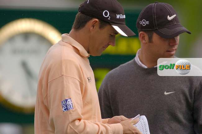 19th, May, 2006 - Nissan Irish Open at Carton House Golf Club, Kildare..Ireland's Padraig Harrington prior to teeing off on the first during the above..Photo:Barry Cronin/Newsfile.