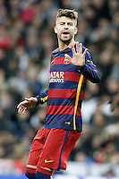FC Barcelona's Gerard Pique during La Liga match. November 21,2015. (ALTERPHOTOS/Acero) /NortePhoto