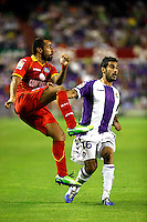Real Valladolid´s Sastre (r) and Getafe's Diego Castro during La Liga match.August 31,2013. (ALTERPHOTOS/Victor Blanco)