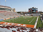 The Texas Longhorns Stadium before the game between the Brigham Young Cougars and the Texas Longhorns at the Darrell K Royal - Texas Memorial Stadium in Austin, Texas. Texas defeats Brigham Young 17 to 16...