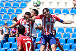 CD Leganes' Mauro Dos Santos (c) and Atletico de Madrid's Angel Correa (l) and Diego Godin during friendly match. August 12,2017. (ALTERPHOTOS/Acero)