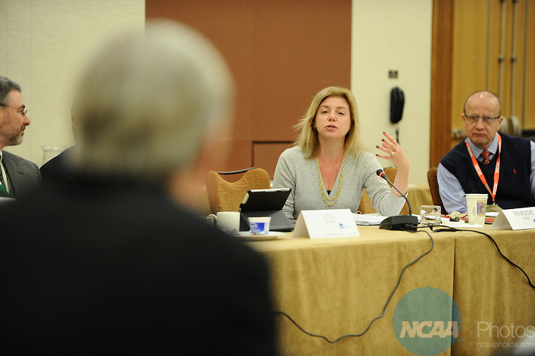 11 JAN 2012:  The Division III Management Council meets at the 2012 NCAA Convention held at the JW Marriott and Indianapolis Convention Center in Indianapolis, IN.  Joshua Duplechian/NCAA Photos.Pictured: Marjoie Hass.
