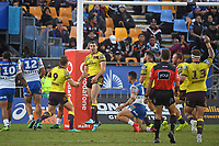 Corey Oates scores for the Broncos.<br />