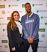 Rotterdam, The Netherlands, 16 Februari 2020, ABNAMRO World Tennis Tournament, Ahoy, Meet and greet with Gaël Monfils (FRA)<br /> <br /> Photo: www.tennisimages.com